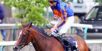 Pierre Charles Boudot riding FANCY BLUE during the meeting of ...